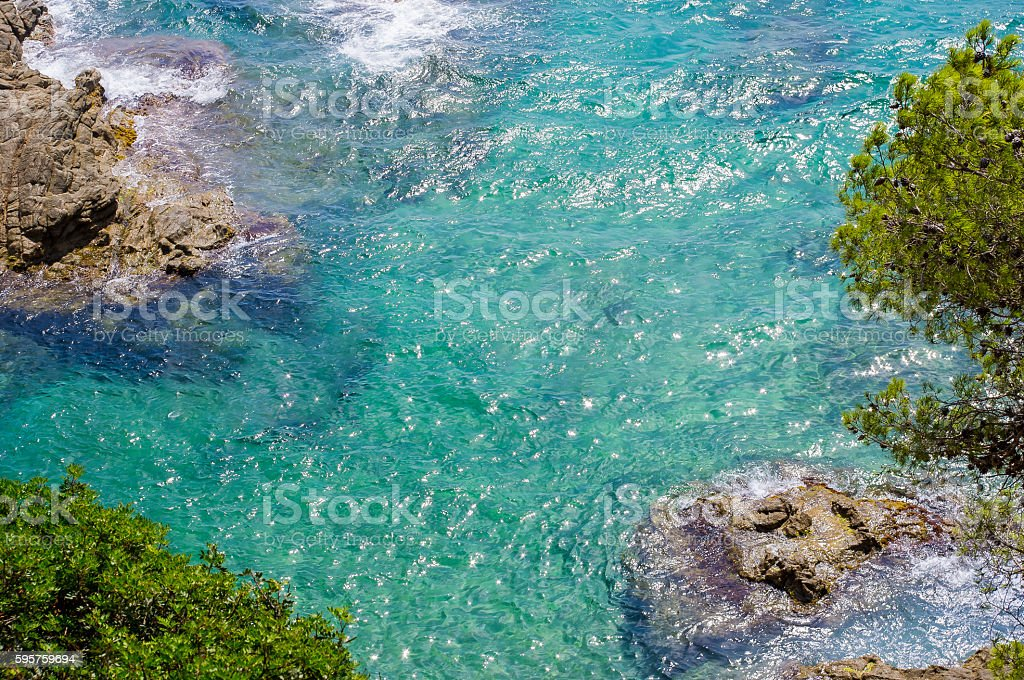 Beautiful landscape of the sea coast. stock photo