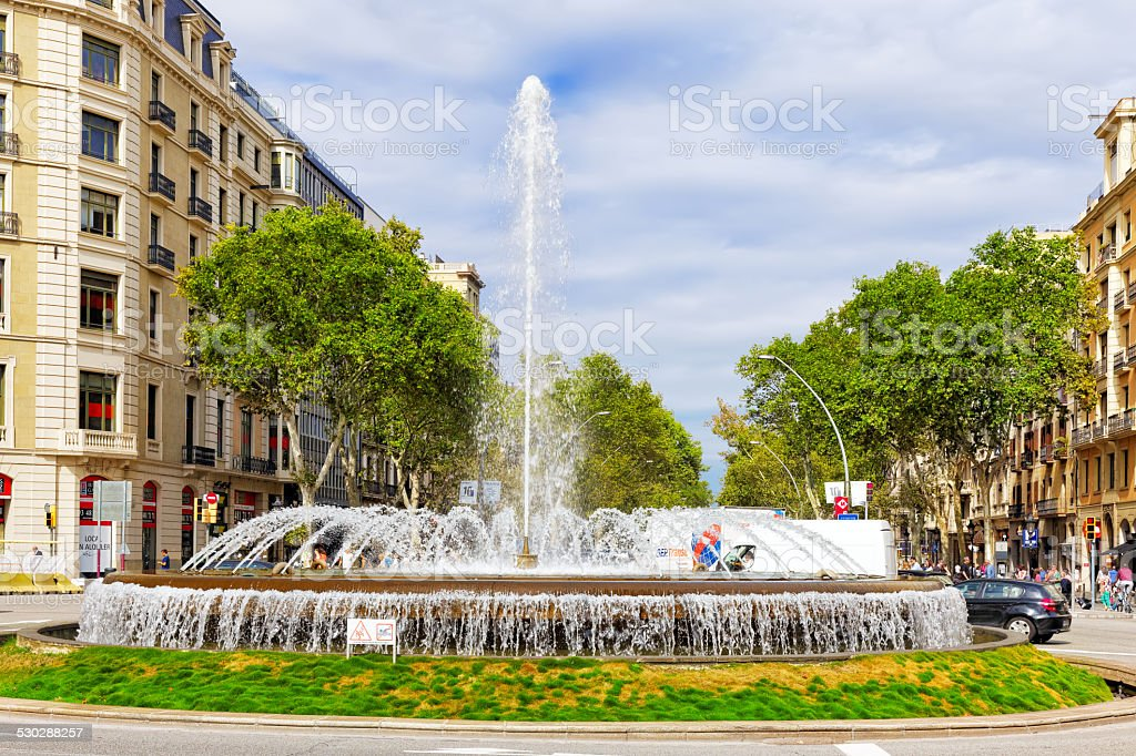 Beautiful landscape of the urban view Barcelona stock photo