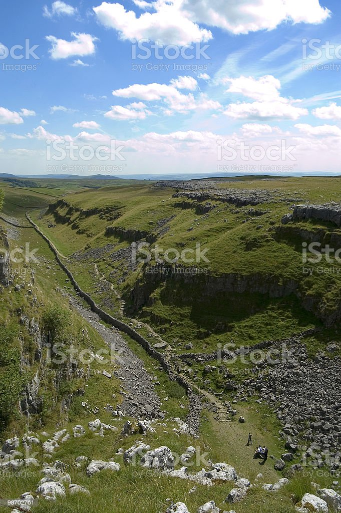 Beautiful landscape of the Yorkshire Dales England royalty-free stock photo
