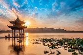 Beautiful landscape of West Lake in Hangzhou