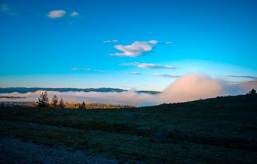 Een Prachtig Landschap Op De Ochtend Zuid Eiland Nieuwzeeland Stockfoto en meer beelden van Achtergrond - Thema