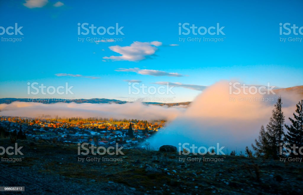 A beautiful landscape on the morning, south Island, New Zealand - Royalty-free Asphalt Stock Photo