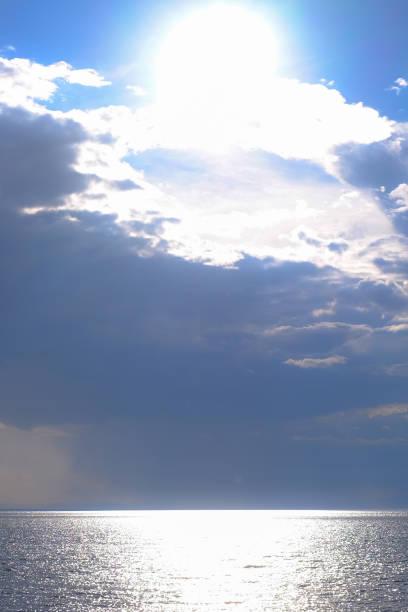 바다 비에서 대기 사진에 아름 다운 풍경 스톡 사진