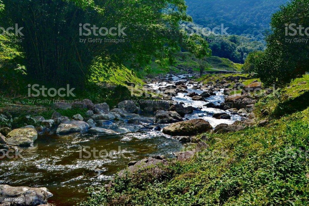 Schöne Landschaft Piraí river Lizenzfreies stock-foto