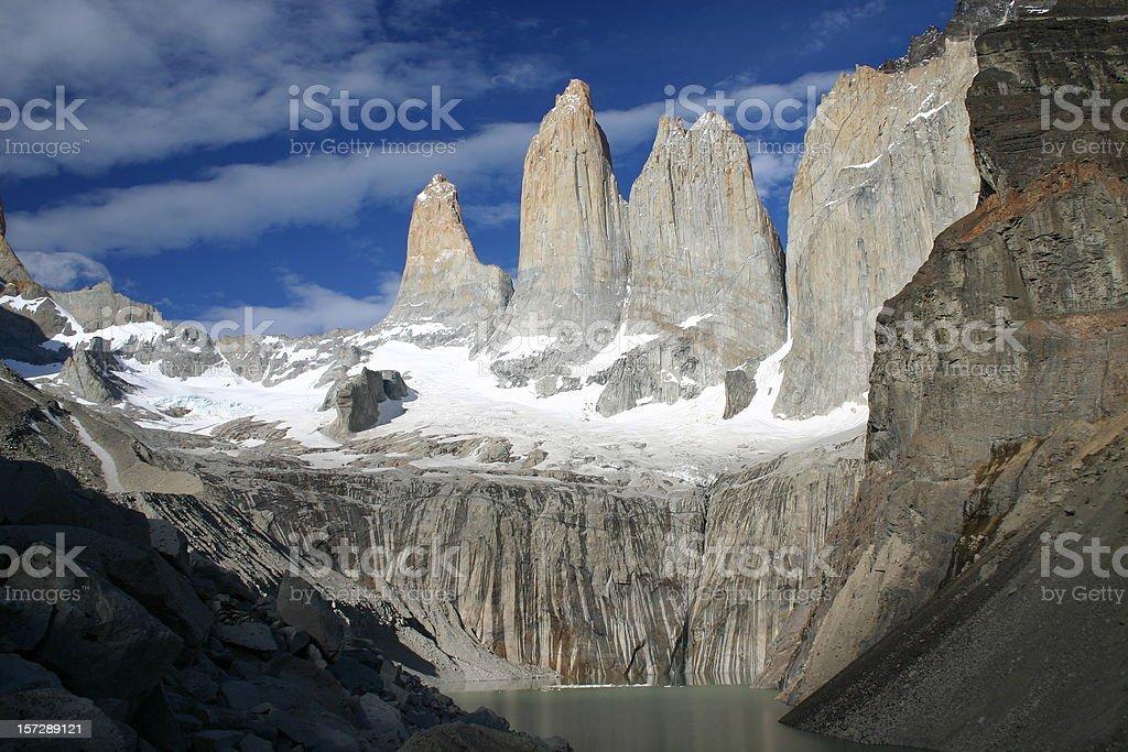 A beautiful landscape shot of Torres del Paine stock photo