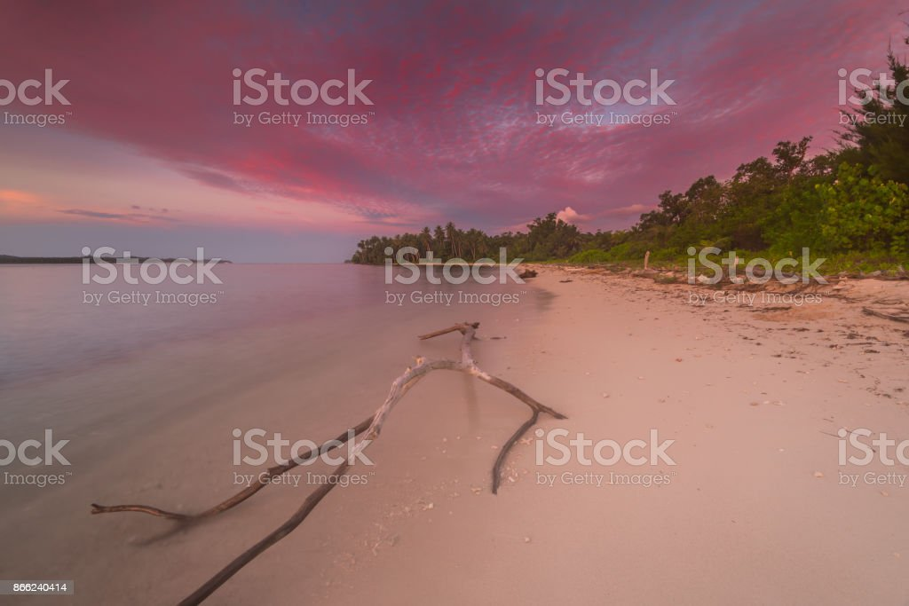 beautiful landscape sunset and sunrise stock photo