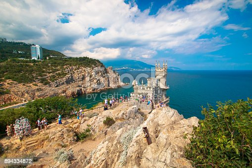 istock Beautiful landscape swallow nest in the Crimea on a clear sunny day 894334872