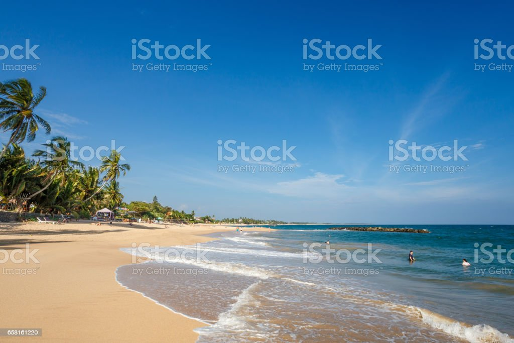 Beautiful landscape tropical beach. stock photo