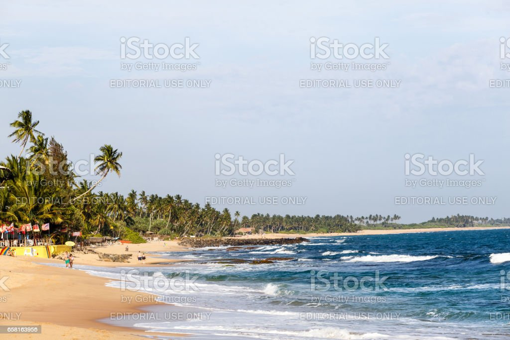 Beautiful landscape tropical beach. stock photo