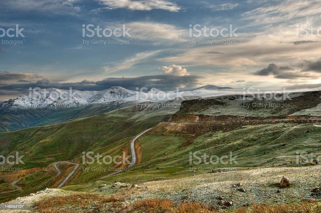 A beautiful landscape view of Armenia stock photo
