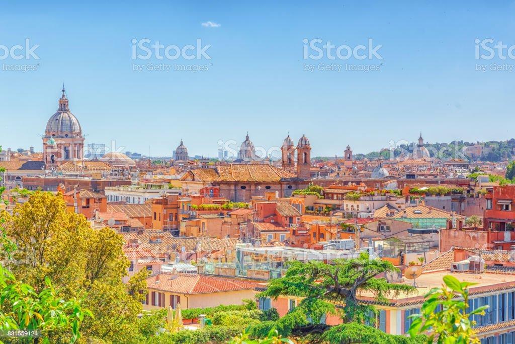 Vista Del Hermoso Paisaje De Roma O Su Llama Eterna Ciudad