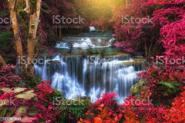 Photo of Beautiful landscape waterfall in Autumn