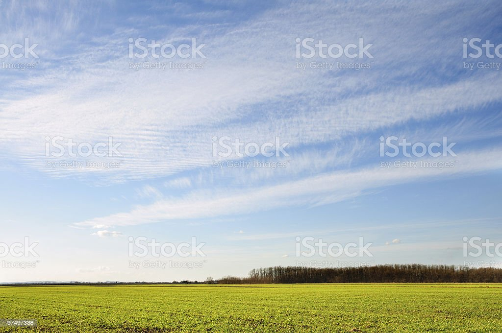 Beautiful landscape with blue sky royalty-free stock photo