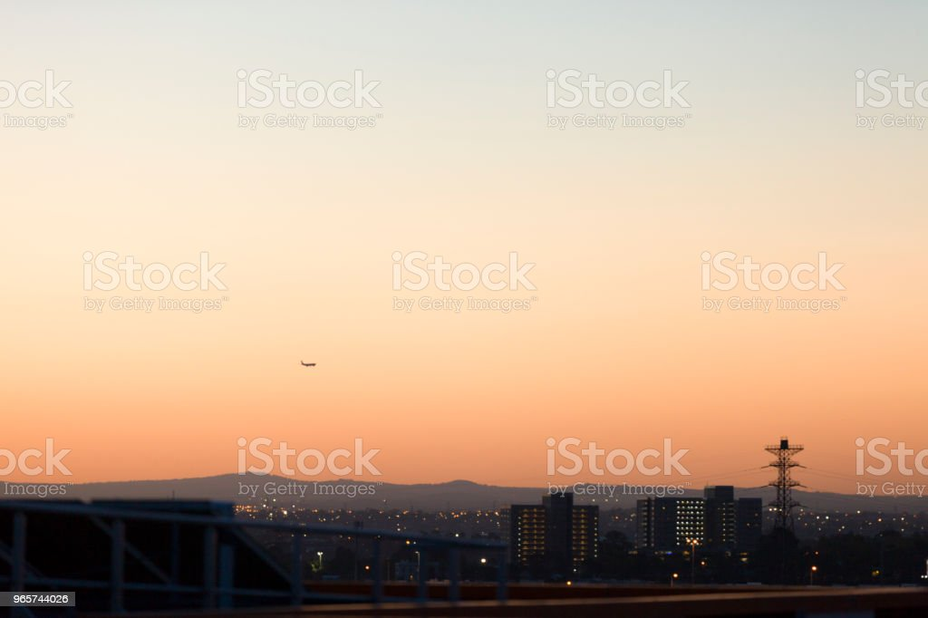 Mooi landschap met verloop - Royalty-free Achtergrond - Thema Stockfoto