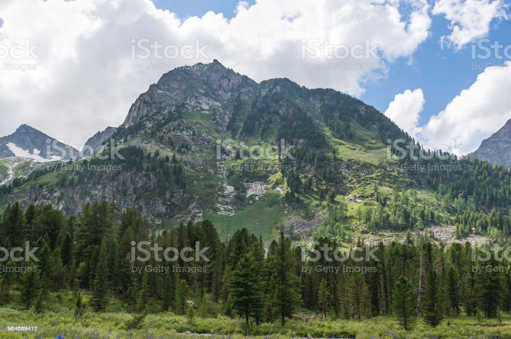 Beautiful landscape with high mountains bright Sunny day royalty-free stock photo