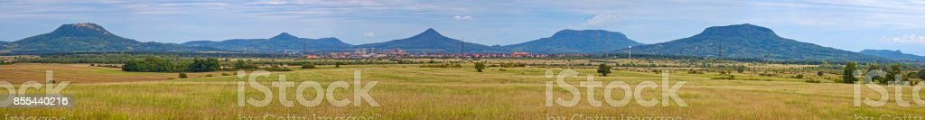 Beautiful landscape with volcanoes from Hungary stock photo