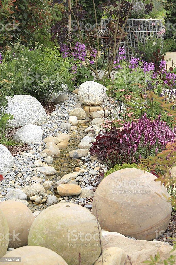Beautiful landscaping stock photo