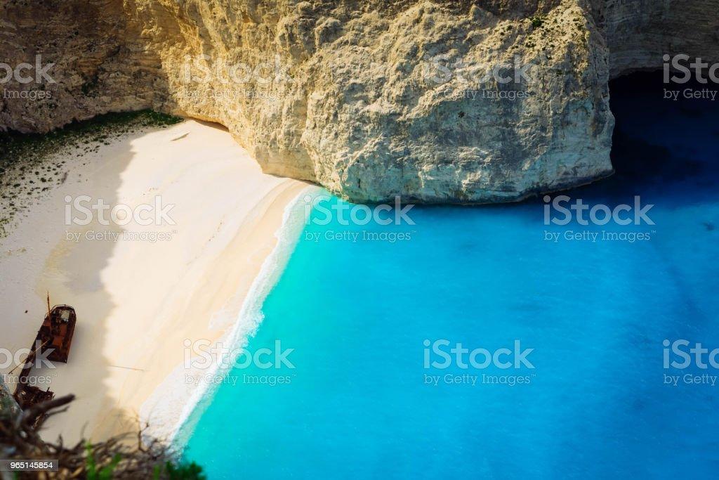 Beautiful lanscape of Zakinthos island royalty-free stock photo
