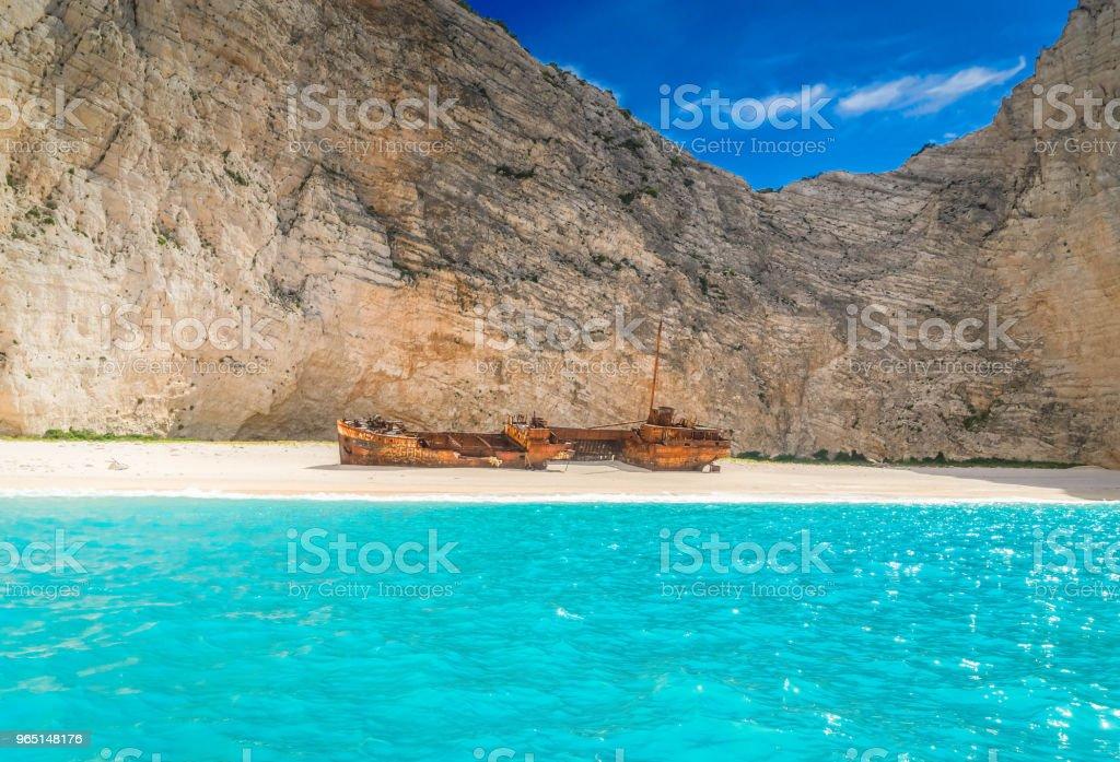 Beautiful lanscape of Zakinthos island zbiór zdjęć royalty-free