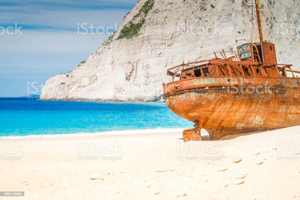 Beautiful lanscape of Zakinthos island royalty-free stock photo
