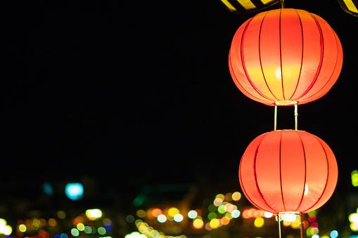 Foto de Lanterna Bonita Em Uma Cidade Antiga De Hoi e mais fotos de stock de Ano Novo chinês