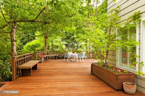 Beautiful large back deck.