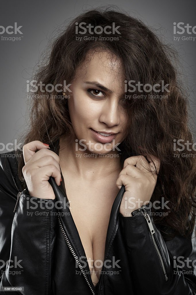Beautiful latino rock chick stock photo