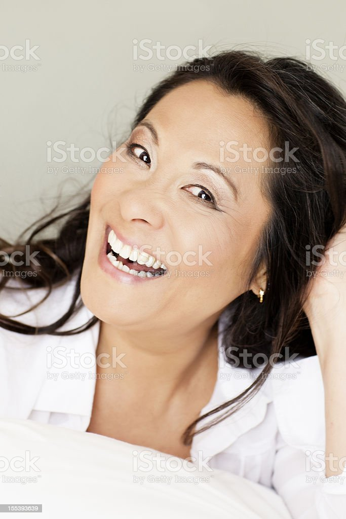 Beautiful Laughing 50year Old Woman Stock Photo More Pictures Of