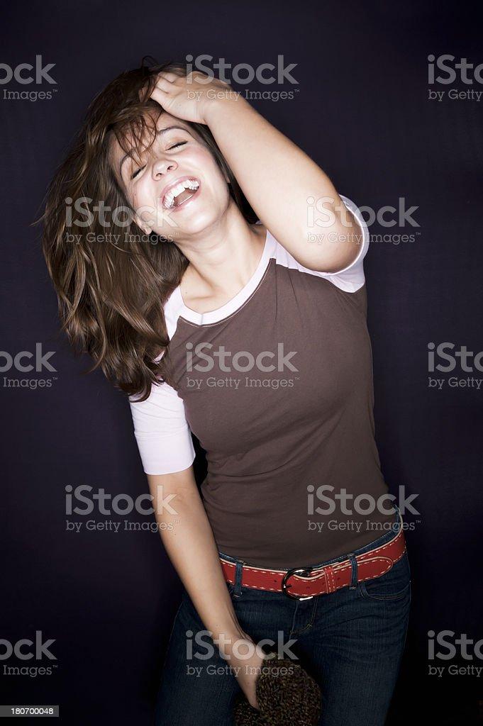 Beautiful Laughing Woman stock photo