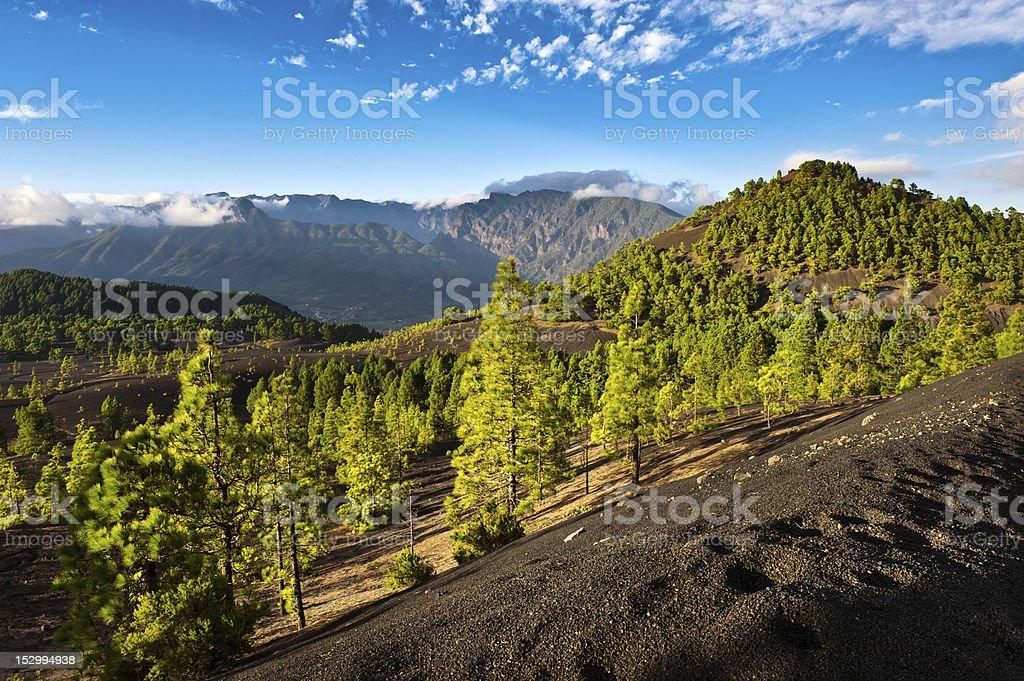 Wunderschöne lava Landschaft auf der Cumbre Nueva in La Palma – Foto