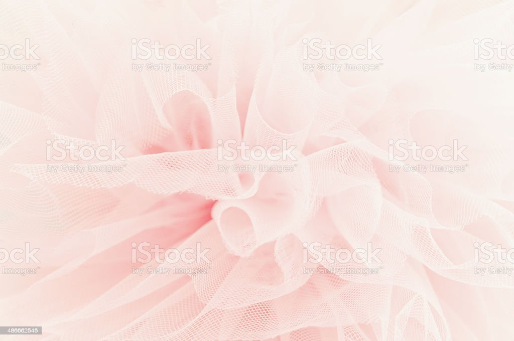 Beautiful layers of delicate pink fabric