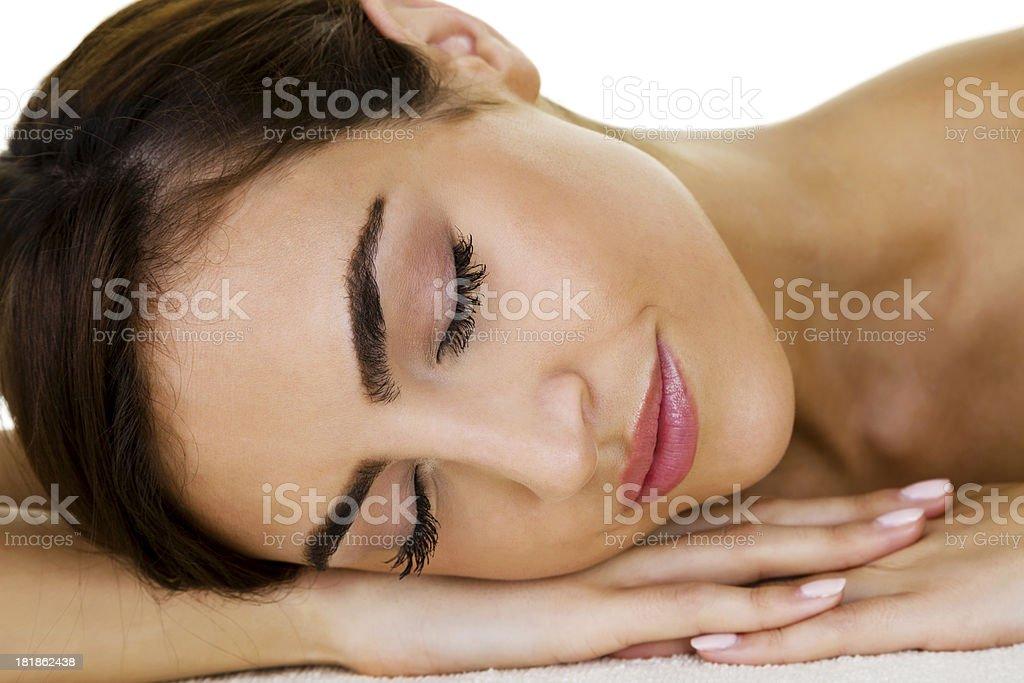 Beautiful laying down royalty-free stock photo