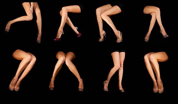 Schöne Beine auf Schwarz – Foto