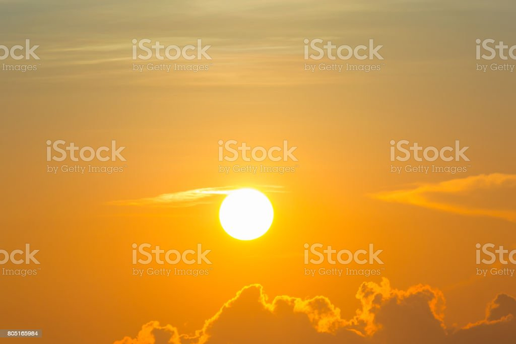 Beautiful light from the nature at sunset every day. stock photo