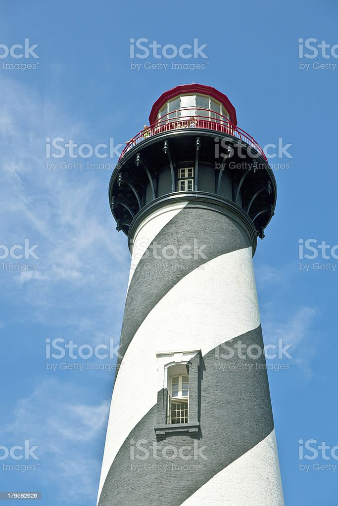 beautiful lighthouse from Sankt Augustine royalty-free stock photo