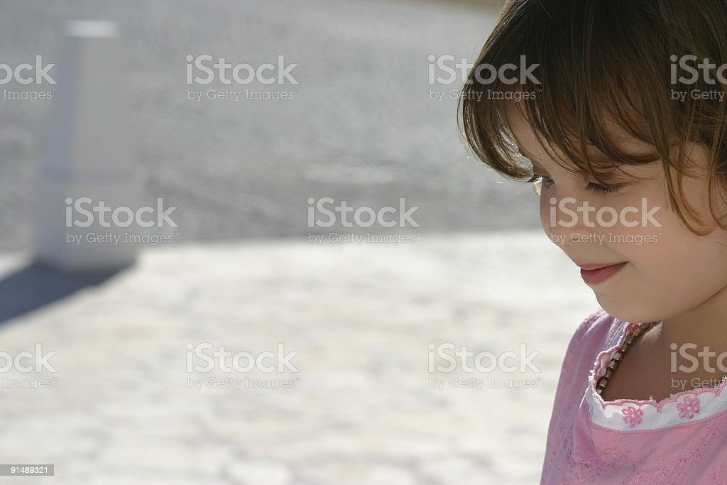 Beautiful litlle girl royalty-free stock photo