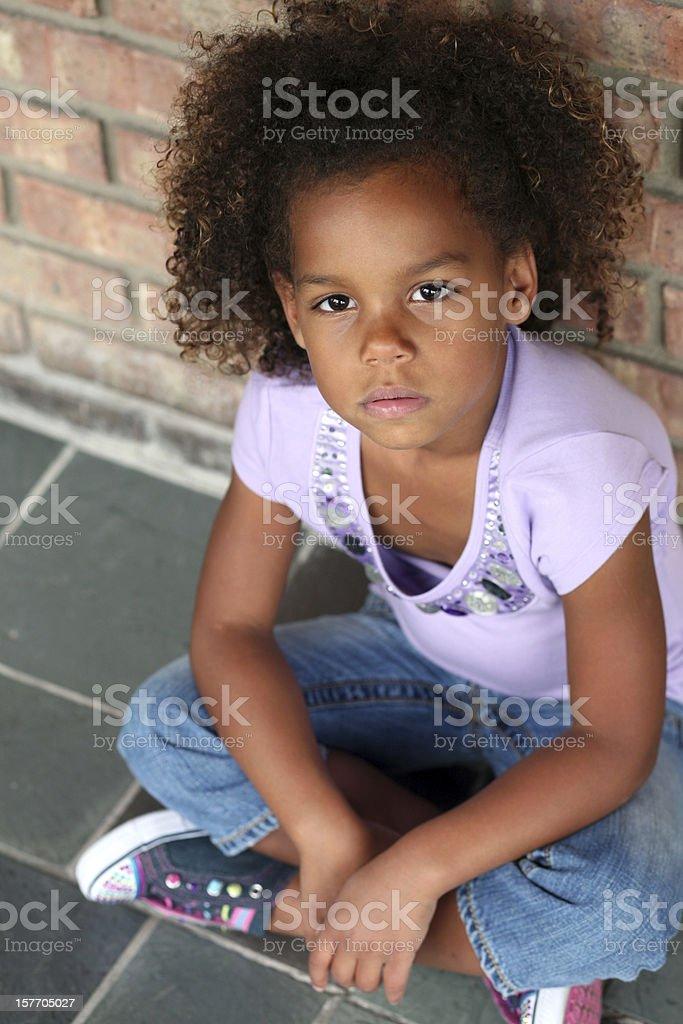beautiful little african-american girl stock photo