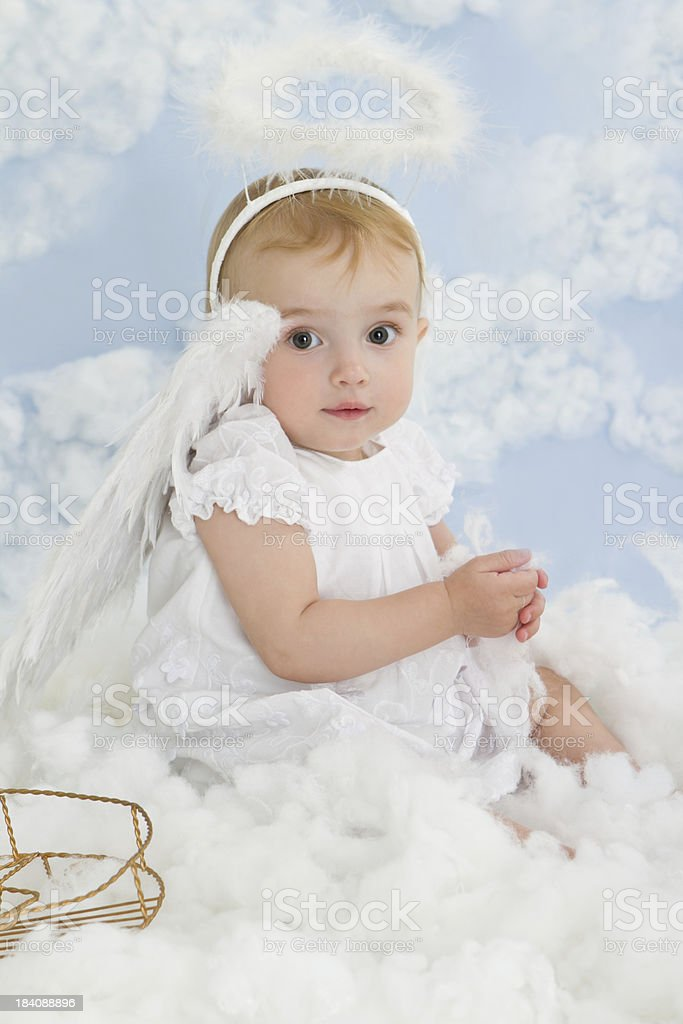 Beautiful little angel royalty-free stock photo