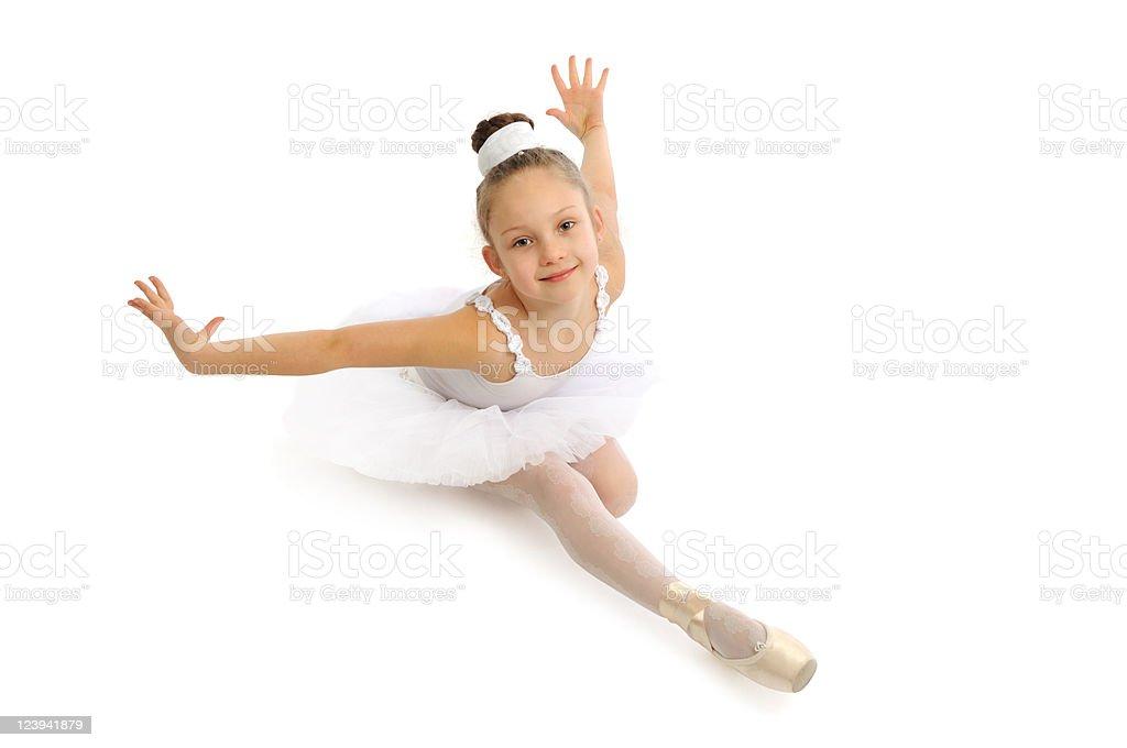 Beautiful little ballerina stock photo