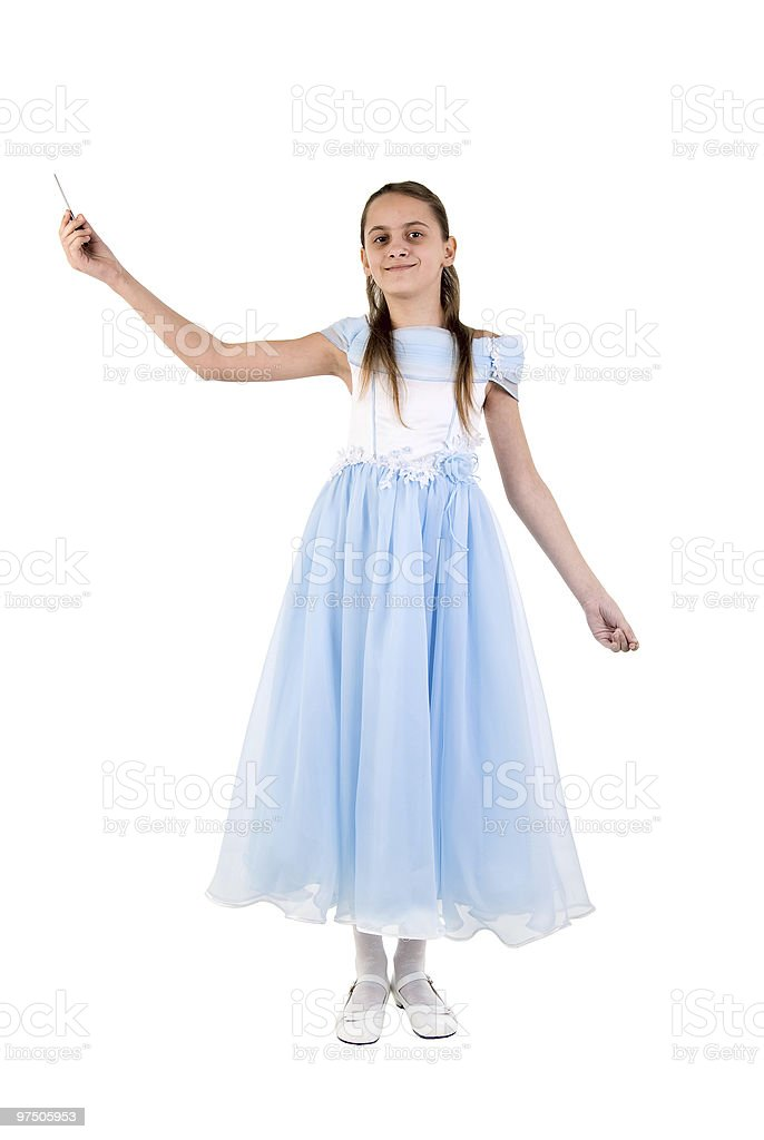 Beautiful Little Girl In A Fairy Costume royalty-free stock photo