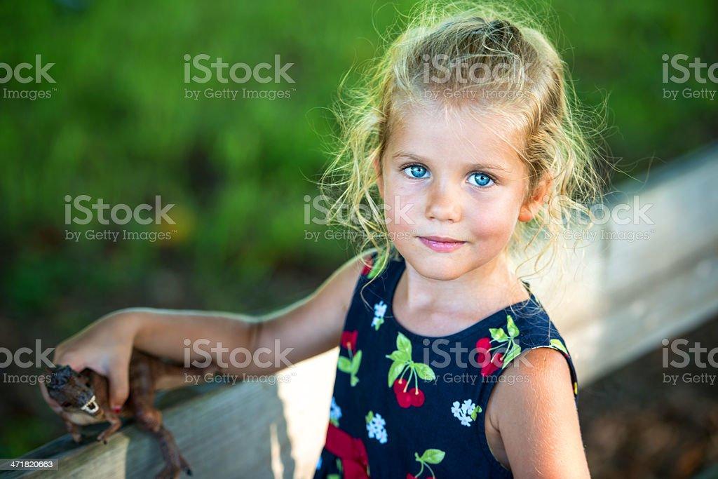 Beautiful little girl royalty-free stock photo