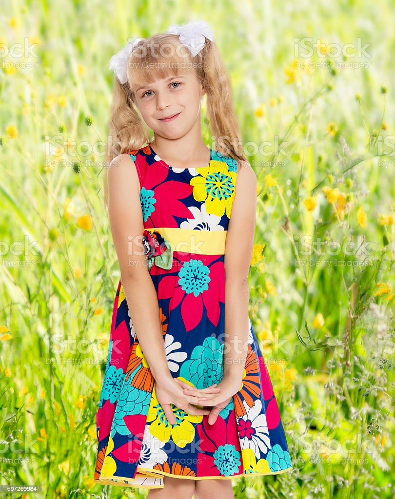 Schöne kleine Mädchen  Lizenzfreies stock-foto