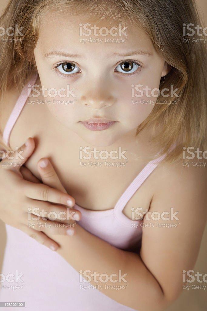Beautiful little girl portrait royalty-free stock photo