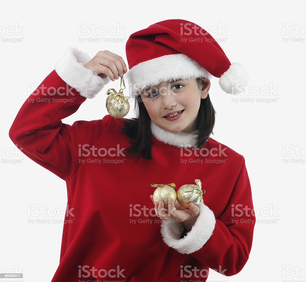 Beautiful little girl with christmas decoration royalty-free stock photo