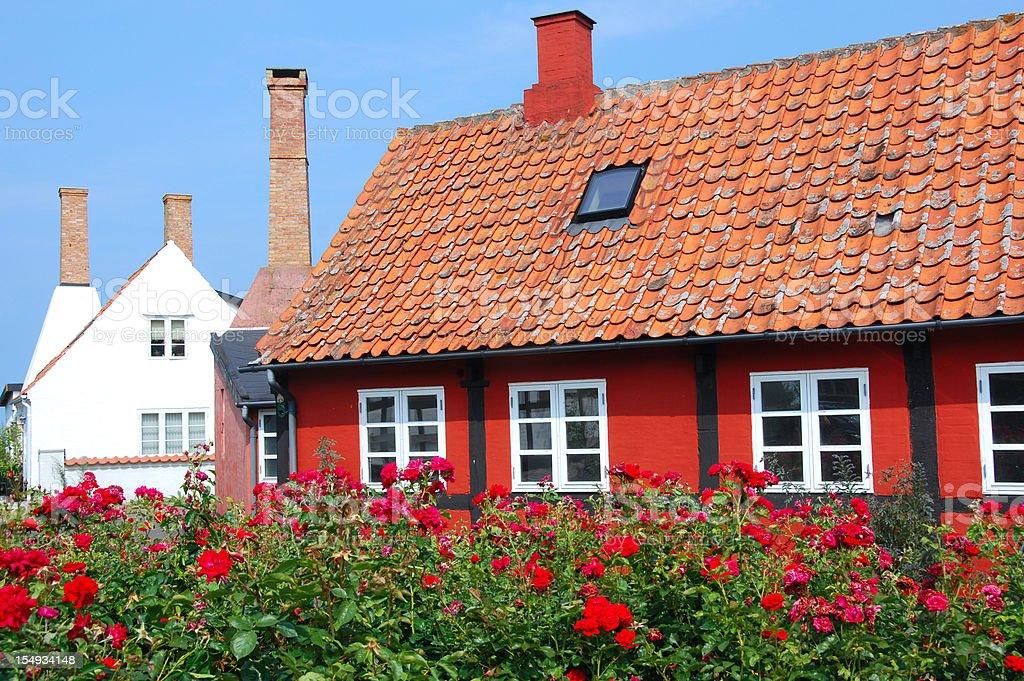 beautiful little house at Bornholm royalty-free stock photo