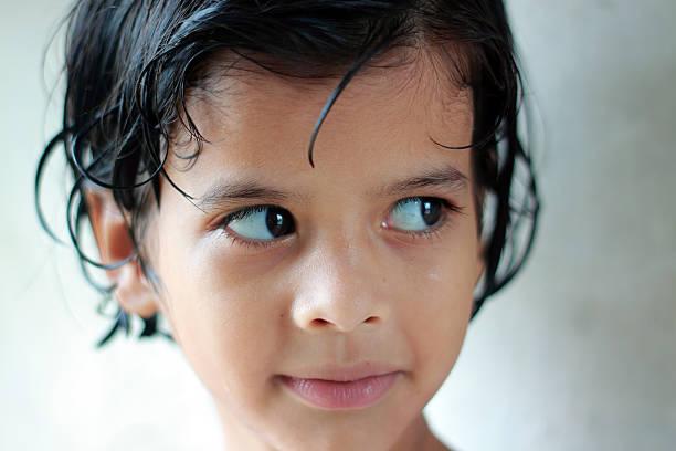 Beautiful little Pathan girl stock photo