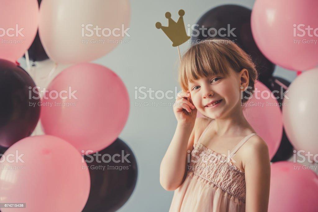 Beautiful little princess stock photo