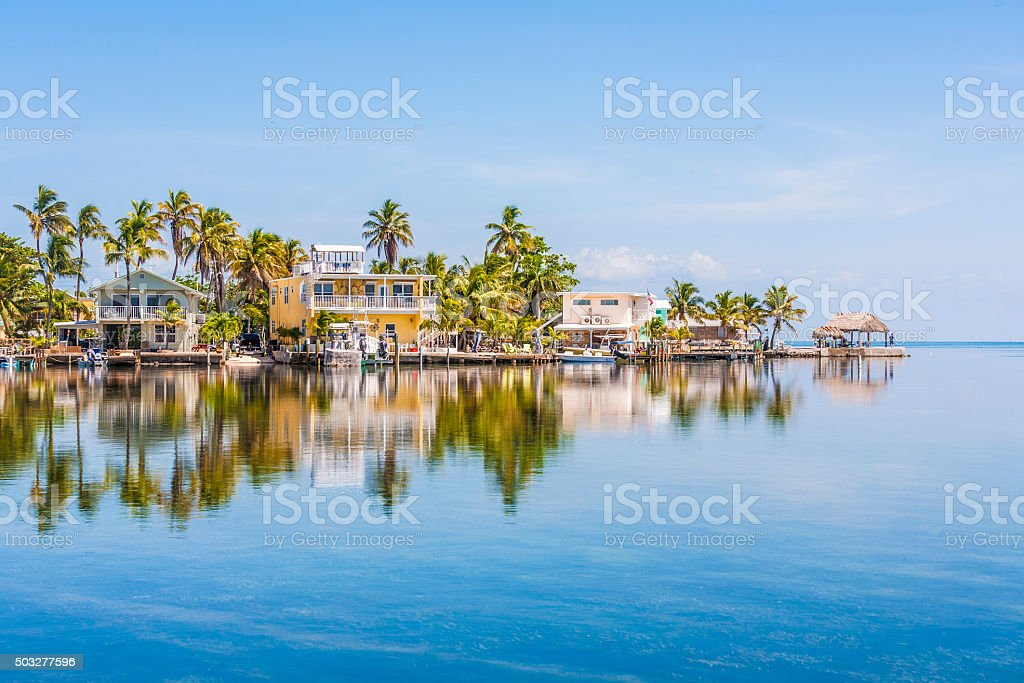 beautiful living area in the Keys stock photo
