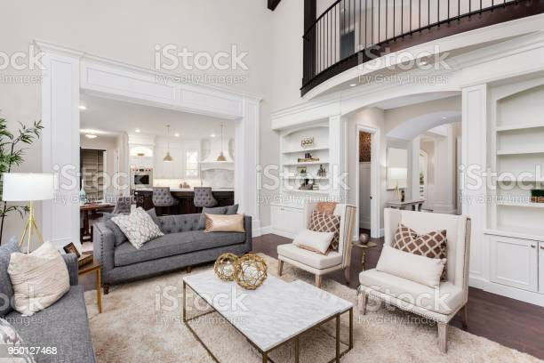 Beautiful living room interior with tall vaulted ceiling loft area picture id950127468?b=1&k=6&m=950127468&s=612x612&h=sy1i0ulpw8khc7xqhbbpwwmxdxok5itkh0koo5bisn4=