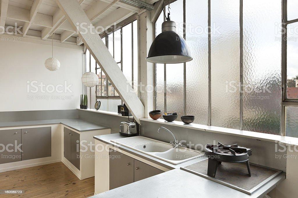 Beautiful loft royalty-free stock photo